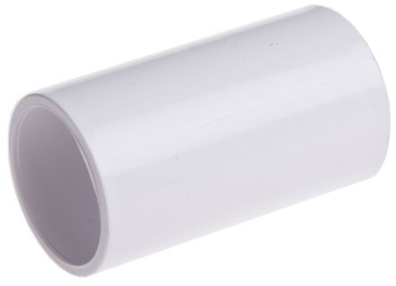 Coupler Cable Conduit Fitting, PVC White 25mm nominal size product photo
