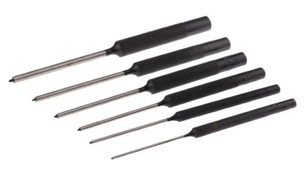 6 piece Punch Set Spring Pin, 47 mm, 57 mm, 67 mm product photo