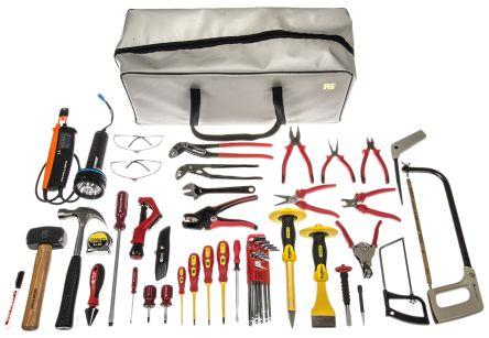Kit utensili per elettricisti rs pro da 39 pezzi rs components