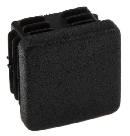 RS PRO Black Plastic Square End Cap, 25mm 25 mm strut profile
