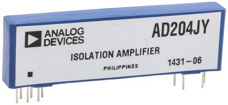 Analog Devices AD204JY, Isolation Amplifier, 11-Pin SIP