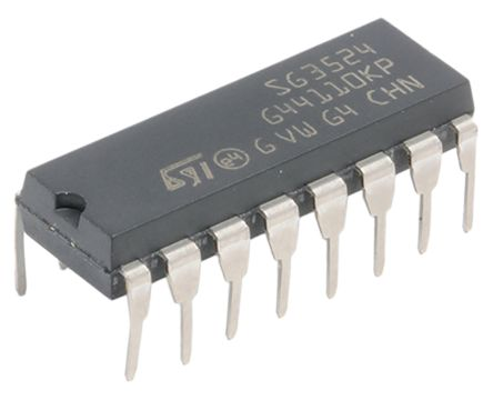 STMicroelectronics SG3524N, Dual PWM Voltage Mode Controller, 100 mA, 300 kHz 16-Pin, PDIP