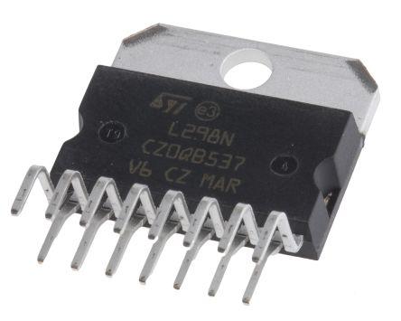 Magnatec L298N,  Brushed Motor Driver IC, 46 V 4A 15-Pin, MULTIWATT V