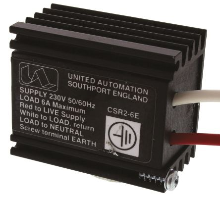 United Automation, 230 V Voltage Regulator, 6A, Adjustable 3-Pin CSR2-6E