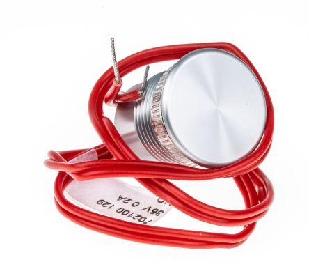 Silver Pre-wired Piezo Switch, , IP68, 200 mA, -40  +105°C