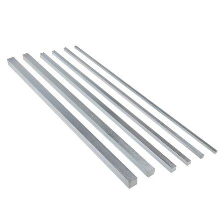 Key Steel Square Bar, 330mm x 10 mm, 12 mm, 4 mm, 5 mm, 6 mm, 8 mm x 10 mm, 12 mm, 4 mm, 5 mm, 6 mm, 8 mm