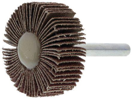 RS Aluminium Oxide Flap Wheel 80 Grit, 40mm x 15mm