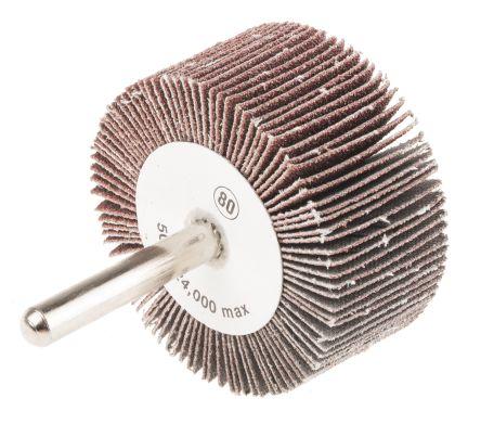 RS PRO Aluminium Oxide Flap Wheel 80 Grit, 50mm x 25mm