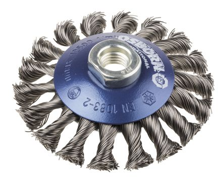 RS PRO Steel Abrasive Bevelled Brush, 12500rpm, 100mm Diameter