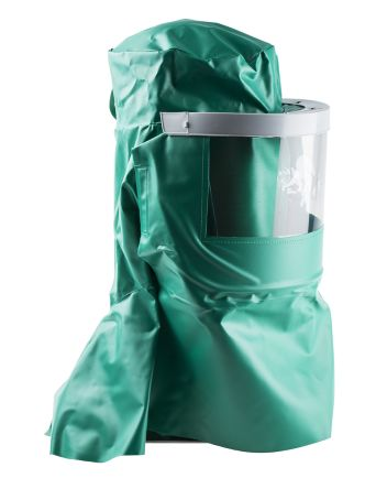 Alpha Solway CMH4 Green No Nylon Protective Hood, Resistant to Acid, Chemical, Oil
