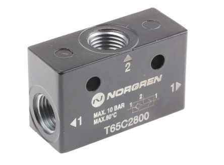 Norgren 0.7 → 10bar OR Pneumatic Logic Controller, -20 → +80°C