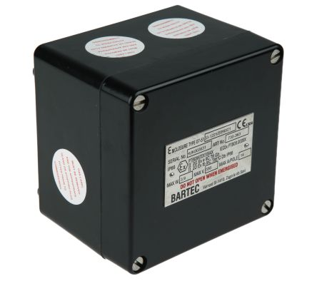 Bartec ATEX Junction Box, IP66, 122mm x 120mm x 90mm
