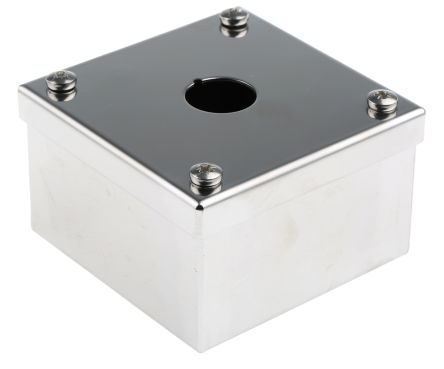 ABB Compact Push Button Enclosure, 1 Hole, 22mm diameter Stainless Steel