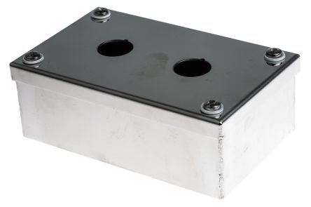 ABB Compact Push Button Enclosure, 2 Hole, 22mm diameter Stainless Steel