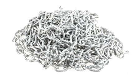 3mm x 10m Hot Dipped Galvanised Zinc Plated Metal Chain Link