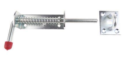 RS PRO Steel Padlockable Zinc Plated Door Bolt