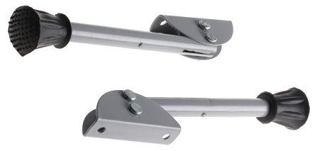 RS PRO Grey Rubber, Steel Door Stop, 4.5 mm Diameter, 155mm Long