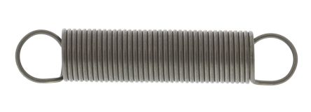 RS PRO Steel Extension Spring, 66.2mm x 13mm