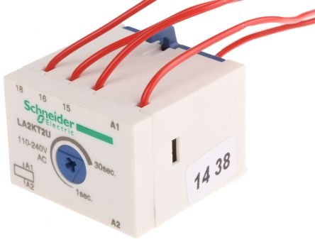 la2kt2u schneider electric | tesys k series analogue (on delay) contactor  timer, range 1 → 30s, no/nc contacts, 110 → 240 v ac coil | 759-112 | rs