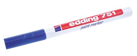 Edding Blue 1 2mm Fine Tip Paint Marker Pen For Use With Glass Metal Plastic Wood
