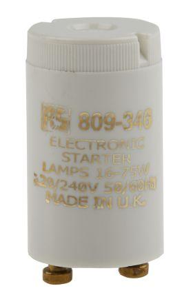 RS PRO, Electronic Fluorescent Light Starter, 16 → 75 W, 240 V ac, 35 mm length , 21.5mm Diameter