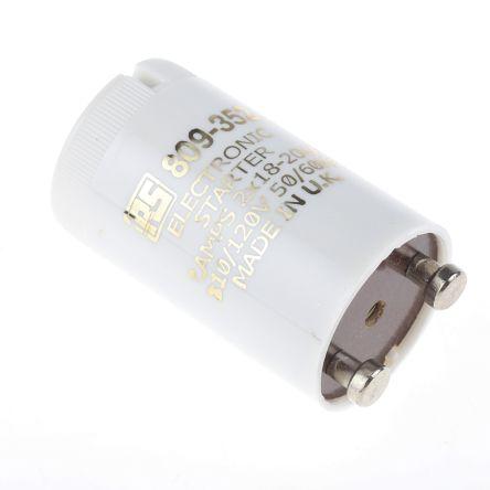 RS PRO, Electronic Fluorescent Light Starter, 18 → 20 W, 110 V ac, 35 mm length , 21.5mm Diameter