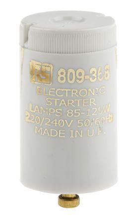 RS PRO, Electronic Fluorescent Light Starter, 100 → 125 W, 240 V ac, 35 mm length , 21.5mm Diameter