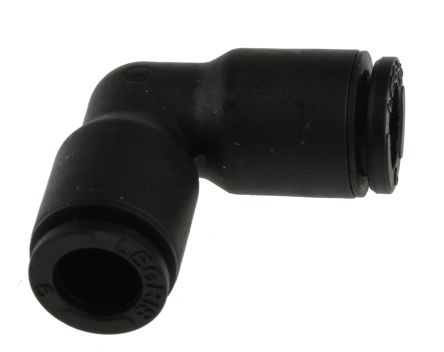 Legris Pneumatic Elbow Tube-to-Tube Adapter Push In 6 mm to Push In 6 mm