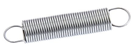 RS PRO Stainless Steel Extension Spring, 27.7mm x 5.5mm