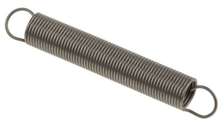 RS PRO Stainless Steel Extension Spring, 37.7mm x 5.5mm