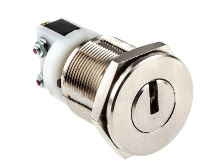 Key Switch, SPDT, 5 A @ 250 V ac 2-Way