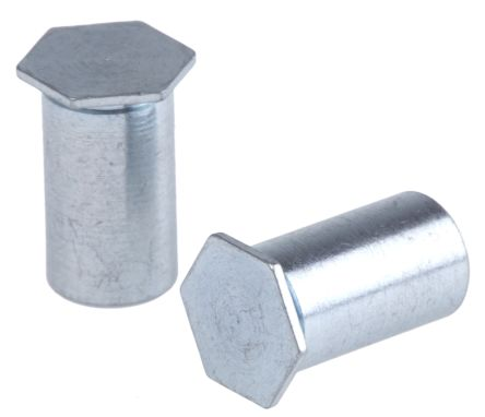 RS PRO Steel Zinc Plated Self-Clinching Standoff, M3