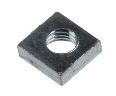 RS PRO, M3 5.5mm Steel Square Nuts, Bright Zinc Plated Finish
