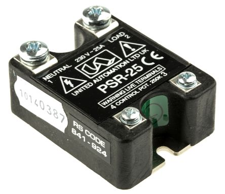 United Automation, PSR-25, Thyristor Power Controller, 6kW, 25A, 56 x 43 x 21mm