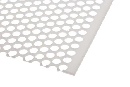 Perforated Polypropylene PP Sheet, 8 mm Hole, 500mm x 500mm x 2mm
