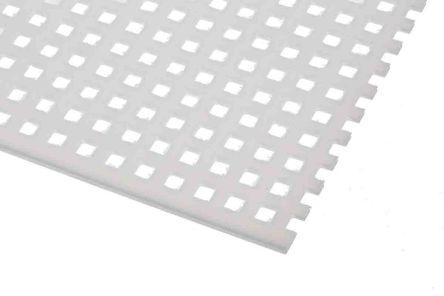 Perforated Polypropylene PP Sheet, 4.7 x 4.7 mm Hole, 500mm x 500mm x 2mm