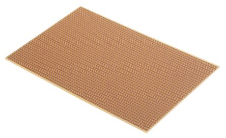 09-1034, Single-Sided Stripboard FR-2 160 x 100 x 1.6mm FR1