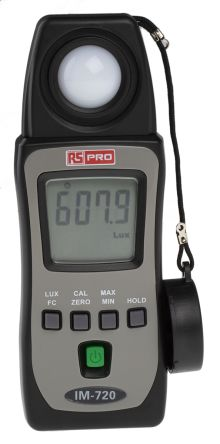 RS PRO IM720 Light Meter, 400lx to 400000lx, ±3 %