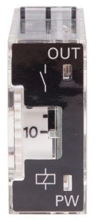 Multi Function Timer Relay, Plug In, 0.1 min → 10 h, SPDT, 2 Contacts, SPDT, 24 V dc