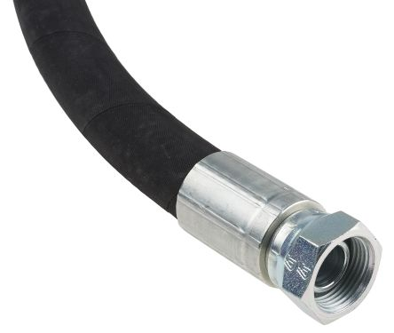 1954mm Synthetic Rubber Hydraulic Hose Assembly, 215 bar Max Pressure, -40 → +100°C