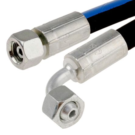 854mm Synthetic Rubber Hydraulic Hose Assembly, 215 bar Max Pressure, -40 -> +100°C product photo