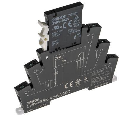 Omron 2 A SPDT Solid State Relay, Zero Crossing, DIN Rail, Triac, 264 V ac  Maximum Load
