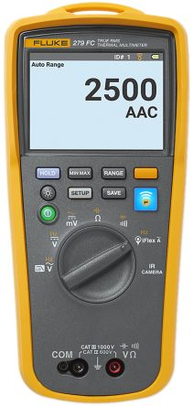 Fluke 279 FC Handheld Thermal Imaging Multimeter, 2.5kA ac 1000V ac 1000V dc