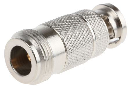 Straight RF Adapter BNC Plug to N Socket