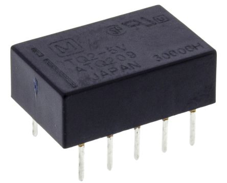 DPDT miniature HF relay, 1A 5Vdc coil