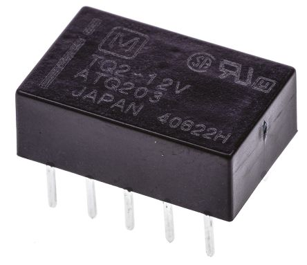 DPDT miniature HF relay, 1A 12Vdc coil