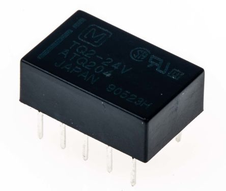DPDT miniature HF relay, 1A 24Vdc coil