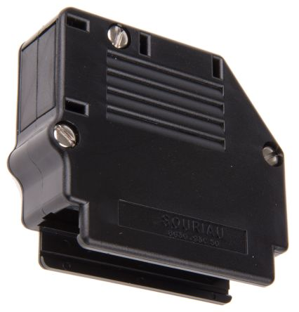 863093C Series Thermoplastic Angled, Straight D-sub Connector Backshell, 50 Way, Strain Relief product photo