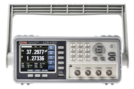 RS PRO, Model LCR-6300 LCR Meter 9999.99mF, 99.9999 MΩ, 9999.99h Bench Type