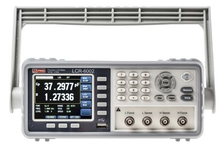 RS PRO, Model LCR-6002 LCR Meter 9999.99mF, 99.9999 MΩ, 9999.99h Bench Type